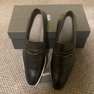 Men's Black Hugo Boss Loafers